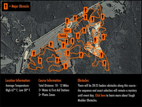 Tough Mudder map